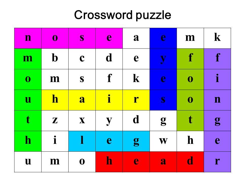 noseaemk mbcdeyff omsfkeoi uhairson tzxydgtg hilegwhe umoheadr Crossword puzzle