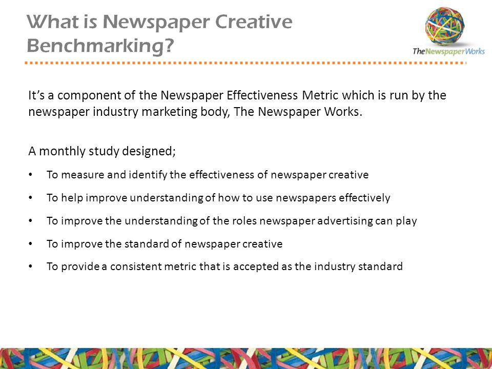 It's a component of the Newspaper Effectiveness Metric which is run by the newspaper industry marketing body, The Newspaper Works.