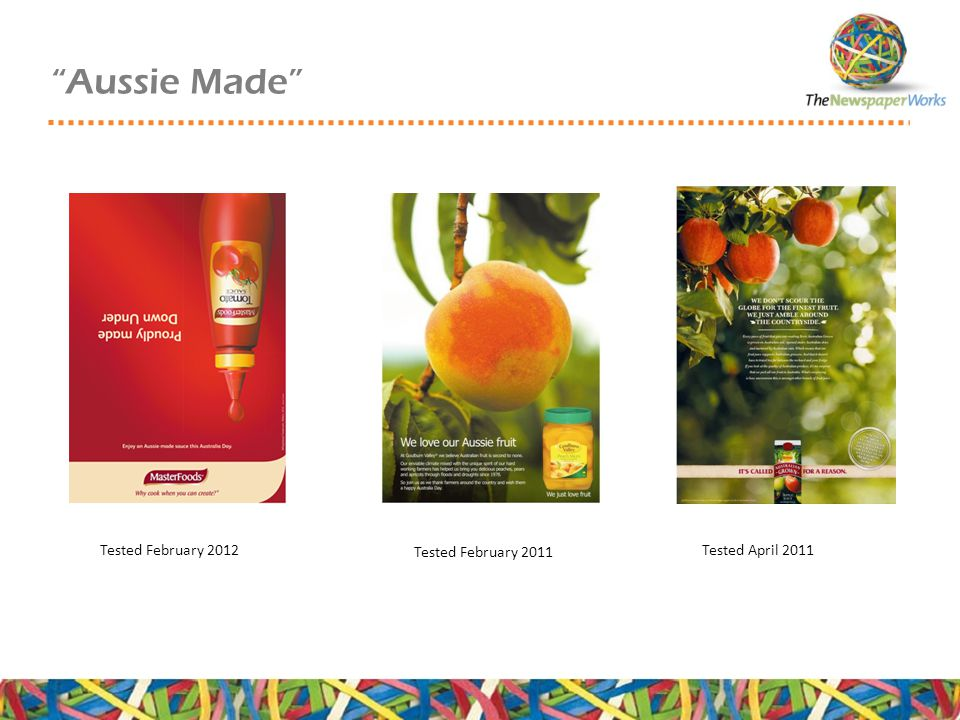 Aussie Made Tested February 2012 Tested February 2011 Tested April 2011
