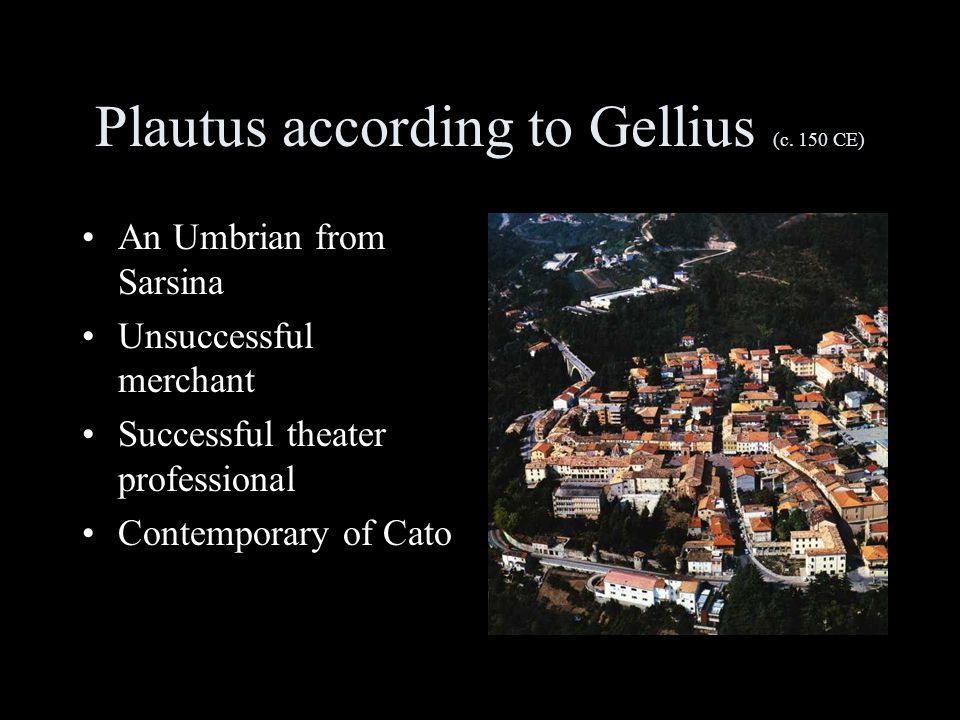 Plautus according to Gellius (c.