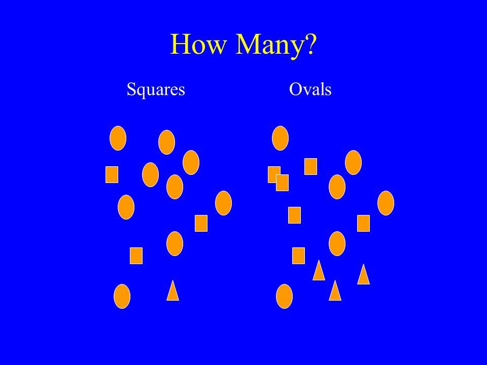 How Many? SquaresOvals