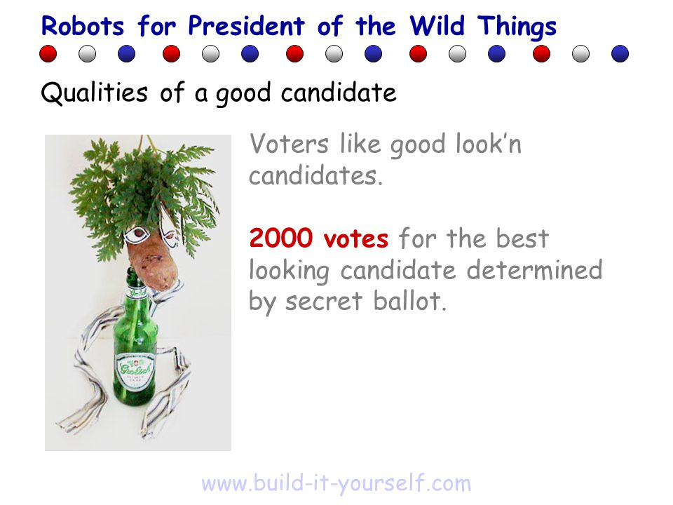 Voters like good look'n candidates.
