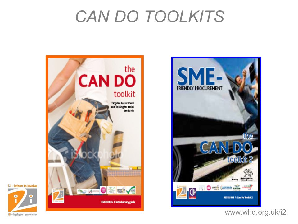 CAN DO TOOLKITS www.whq.org.uk/i2i