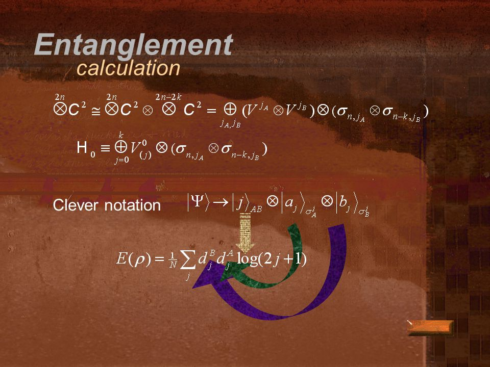Entanglement calculation Clever notation