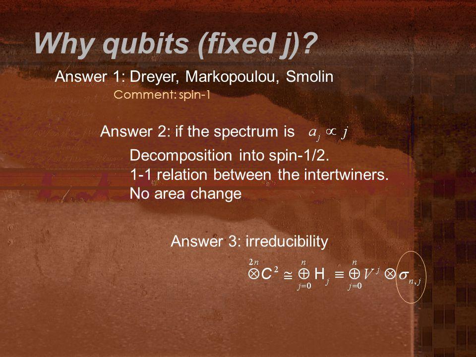 Why qubits (fixed j).