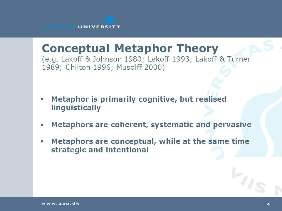 4 Conceptual Metaphor Theory (e.g.