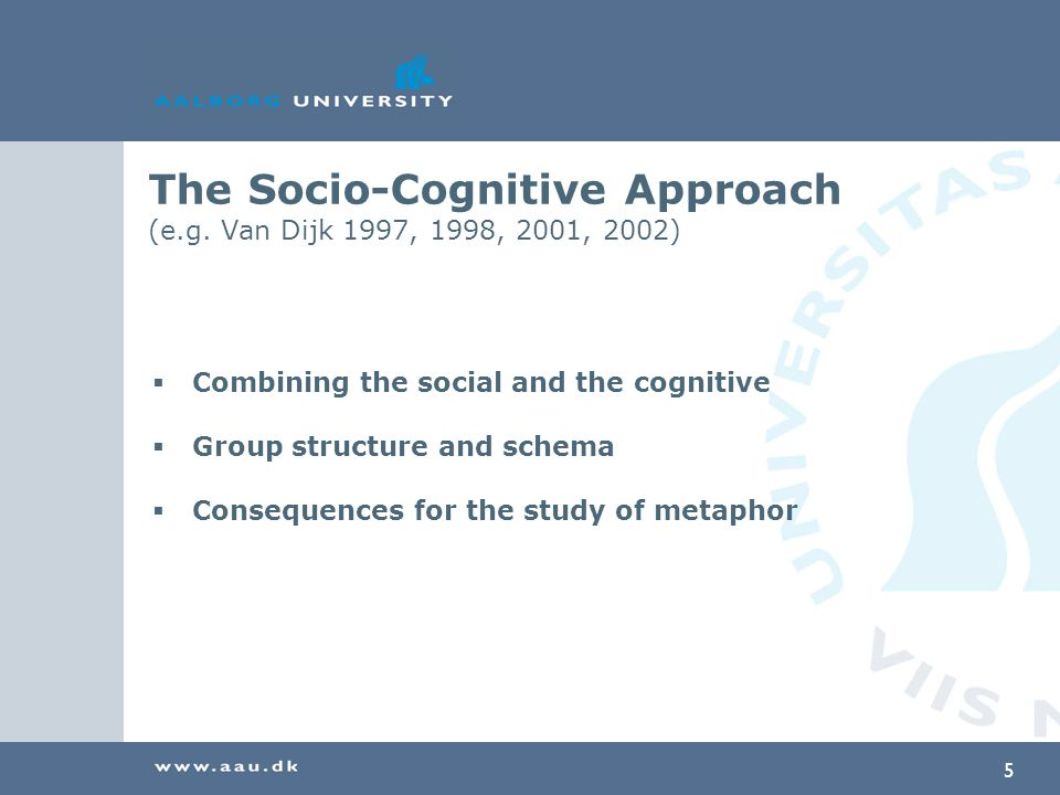 5 The Socio-Cognitive Approach (e.g.