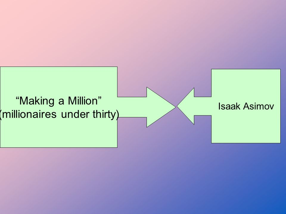 Making a Million (millionaires under thirty) Isaak Asimov