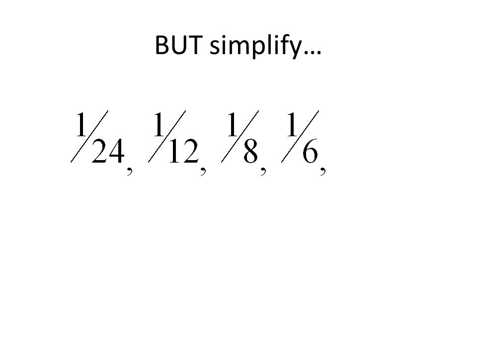 BUT simplify…