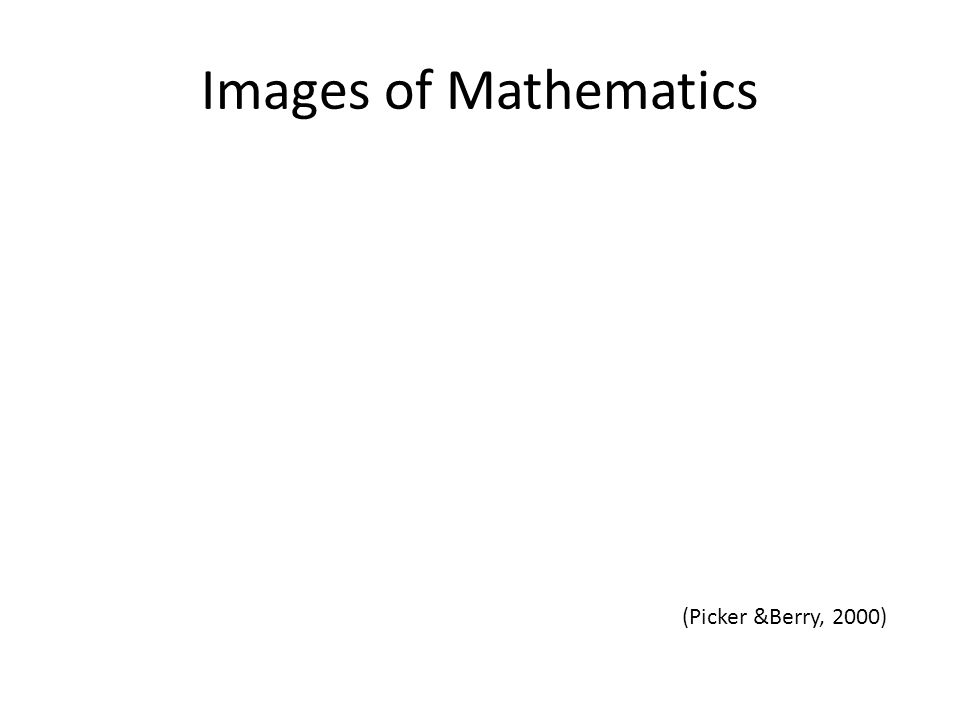 Images of Mathematics (Picker &Berry, 2000)