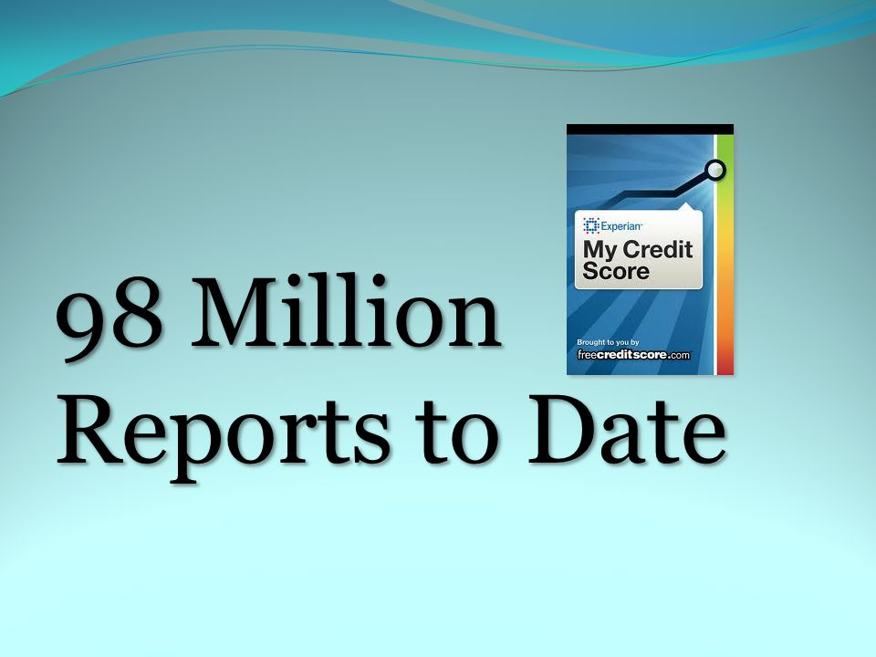 98 Million Reports to Date