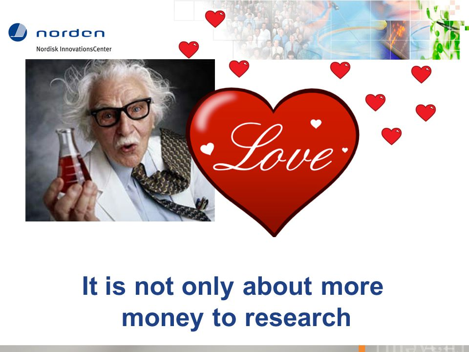 It is not only about more money to research