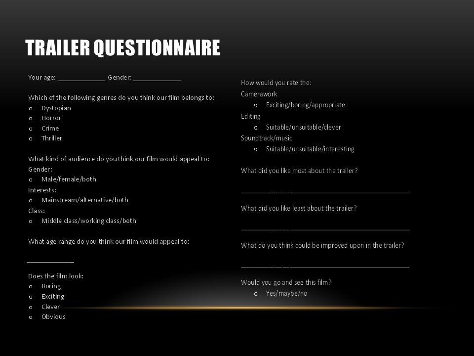 TRAILER QUESTIONNAIRE