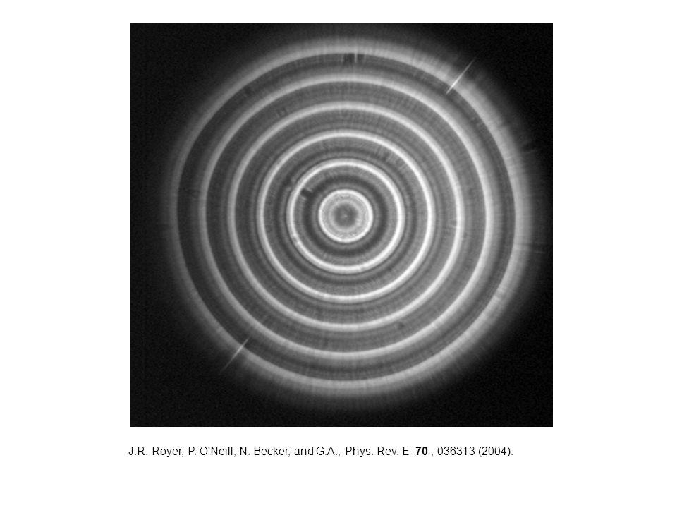 J.R. Royer, P. O Neill, N. Becker, and G.A., Phys. Rev. E 70, 036313 (2004).