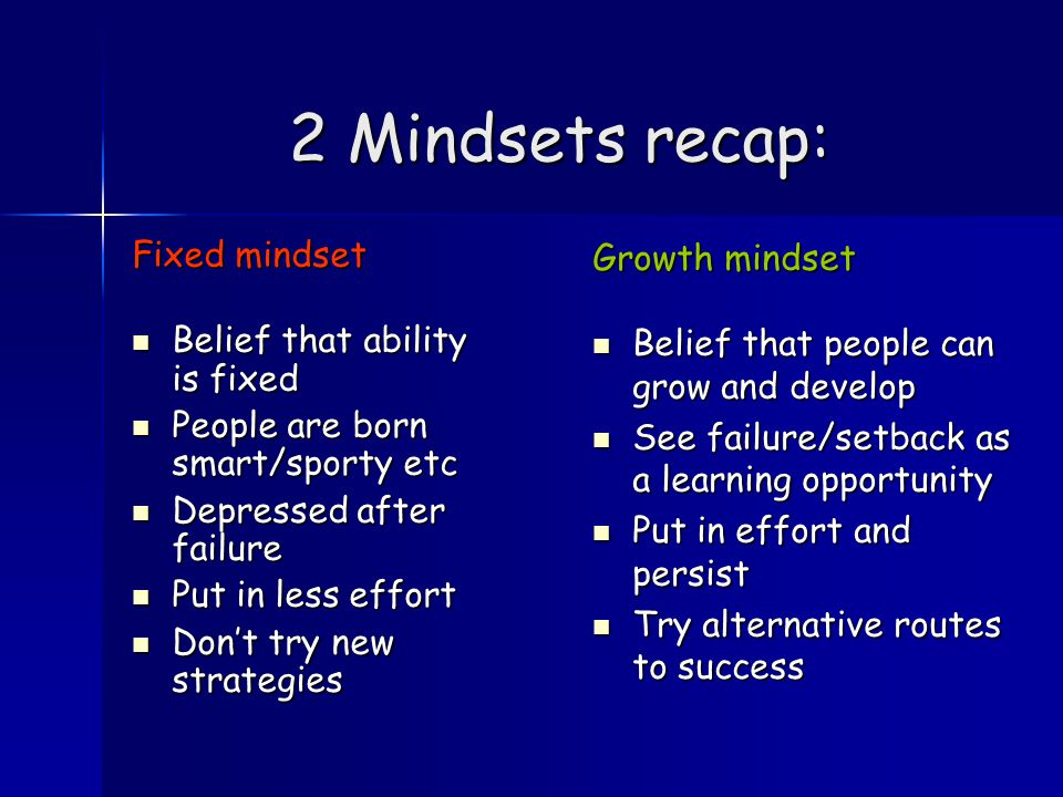 Now put the paper in a pile on your table Write down 3 things you know about a GROWTH mindset