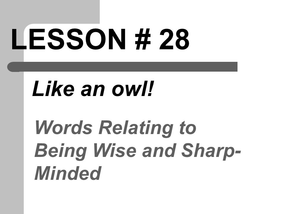 PERSPICACIOUS Adj. using wise judgment; sharp-minded
