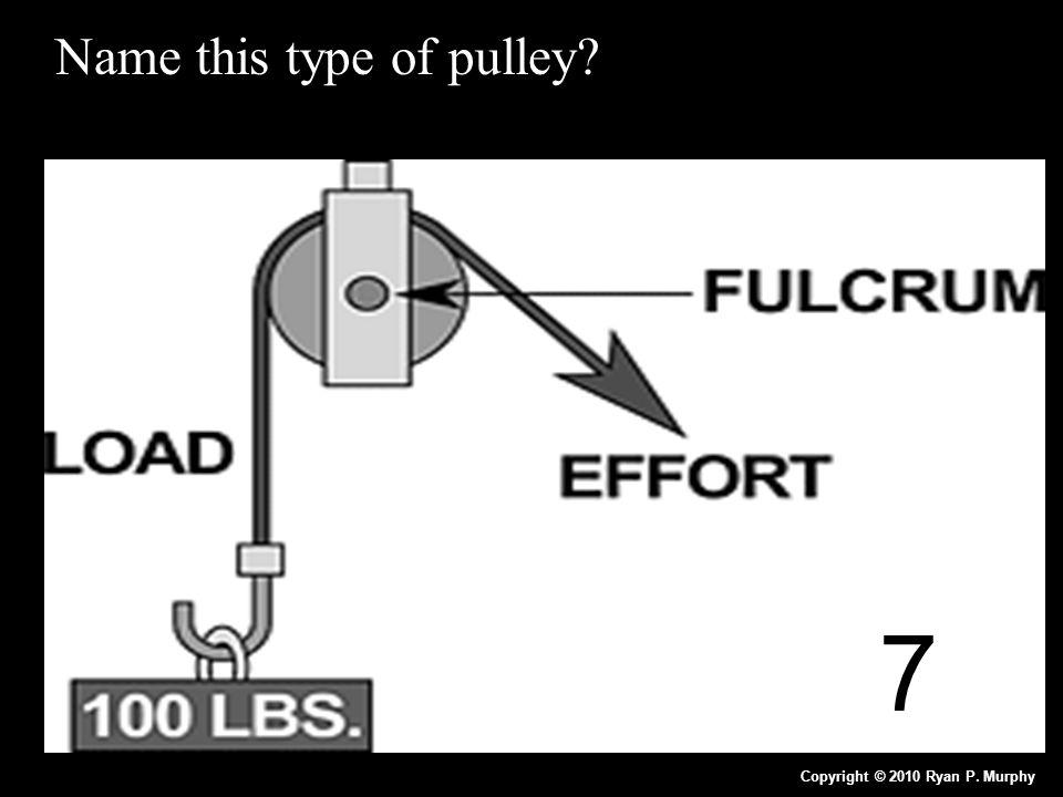 Name this type of pulley? Copyright © 2010 Ryan P. Murphy 7
