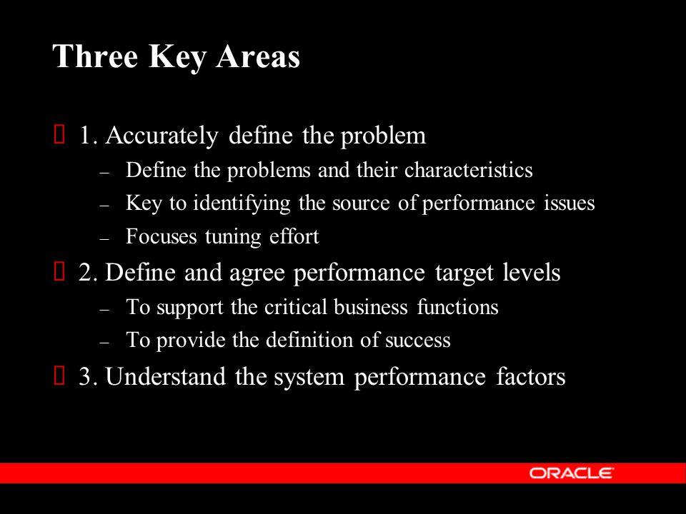 Three Key Areas  1.