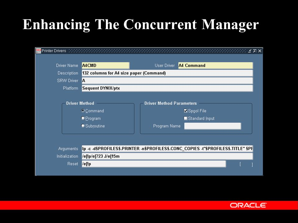 Enhancing The Concurrent Manager