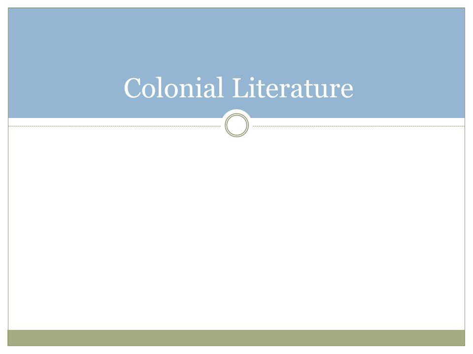 Colonial Literature