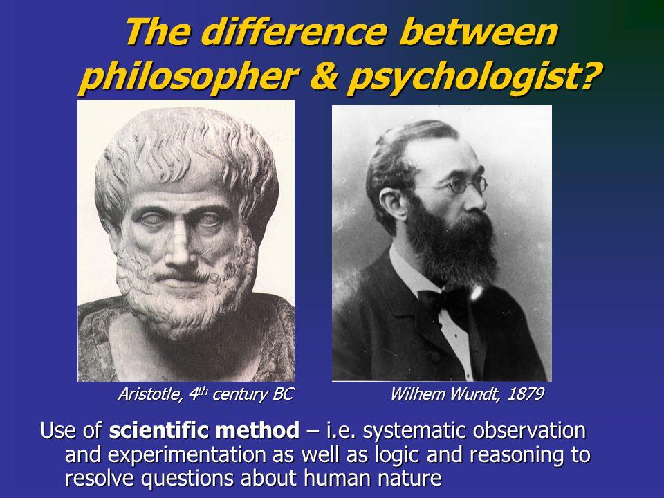 Use of scientific method – i.e.