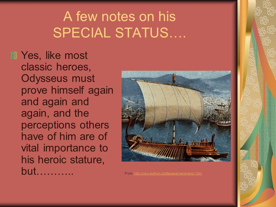 A few notes on his SPECIAL STATUS….