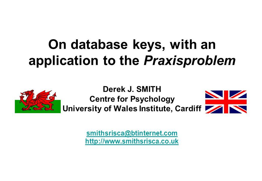 On database keys, with an application to the Praxisproblem Derek J.