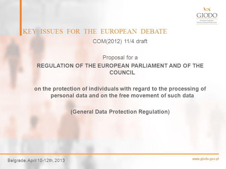 www.giodo.gov.pl COPERNICAN REVOLUTION