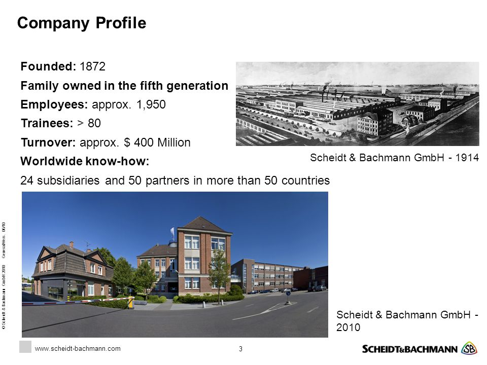 www.scheidt-bachmann.com © Scheidt & Bachmann GmbH 2010 General/Vers.