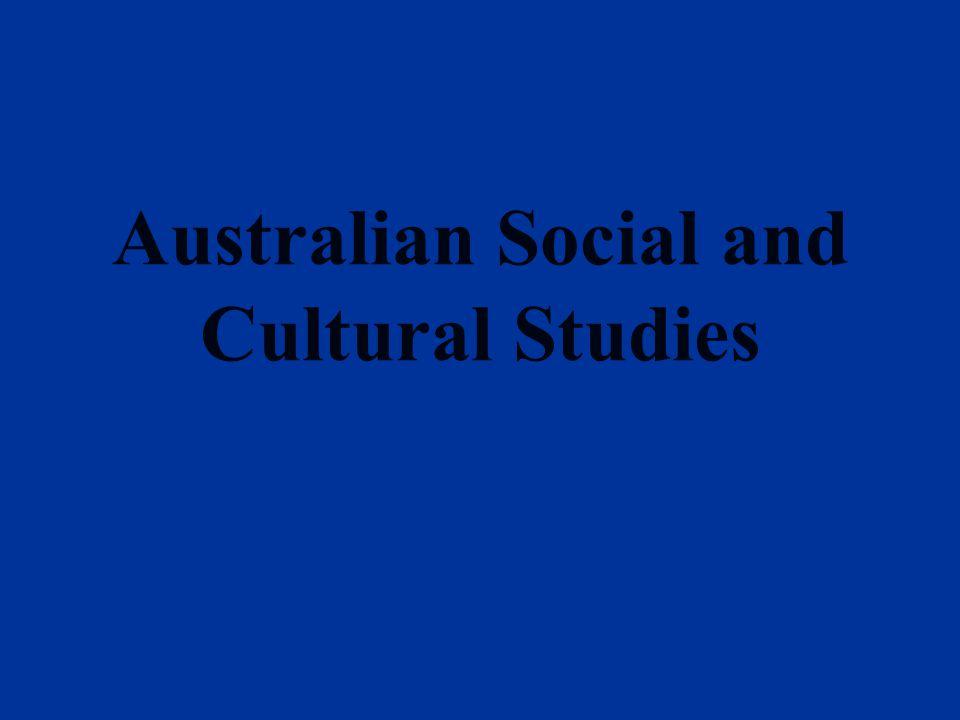 Australian Social and Cultural Studies