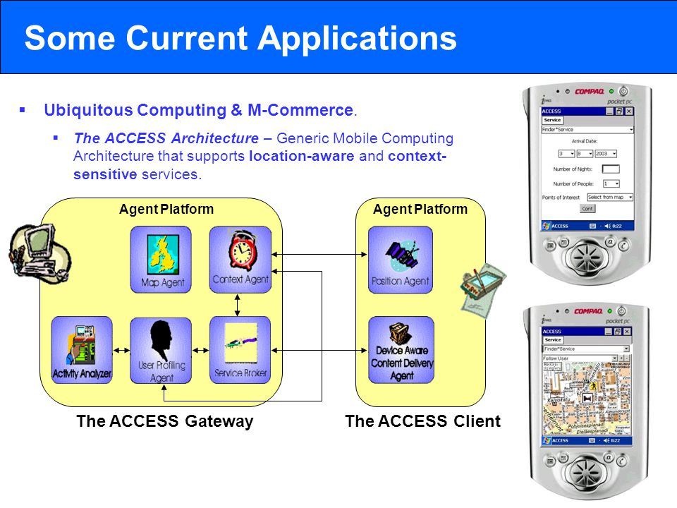 2003 © ChangingWorlds Ltd. Some Current Applications  Ubiquitous Computing & M-Commerce.