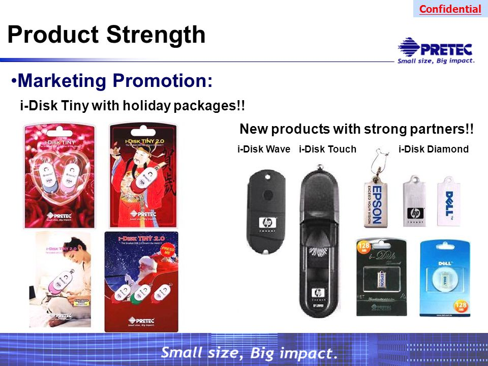 Confidential Product Strength Marketing Promotion: i-Disk Tiny with holiday packages!.