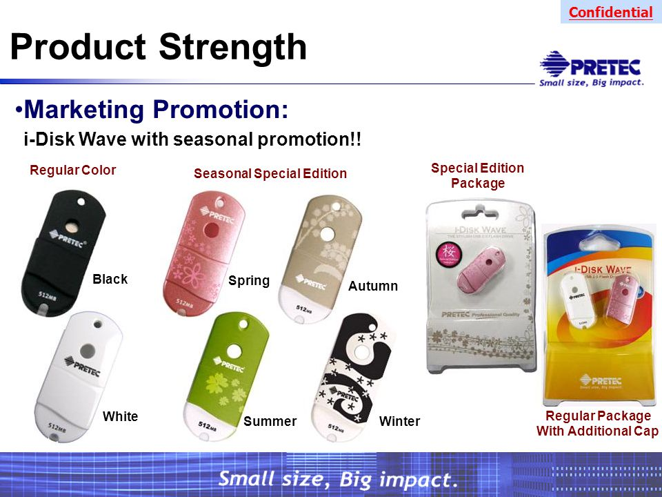 Confidential Product Strength Marketing Promotion: i-Disk Wave with seasonal promotion!.