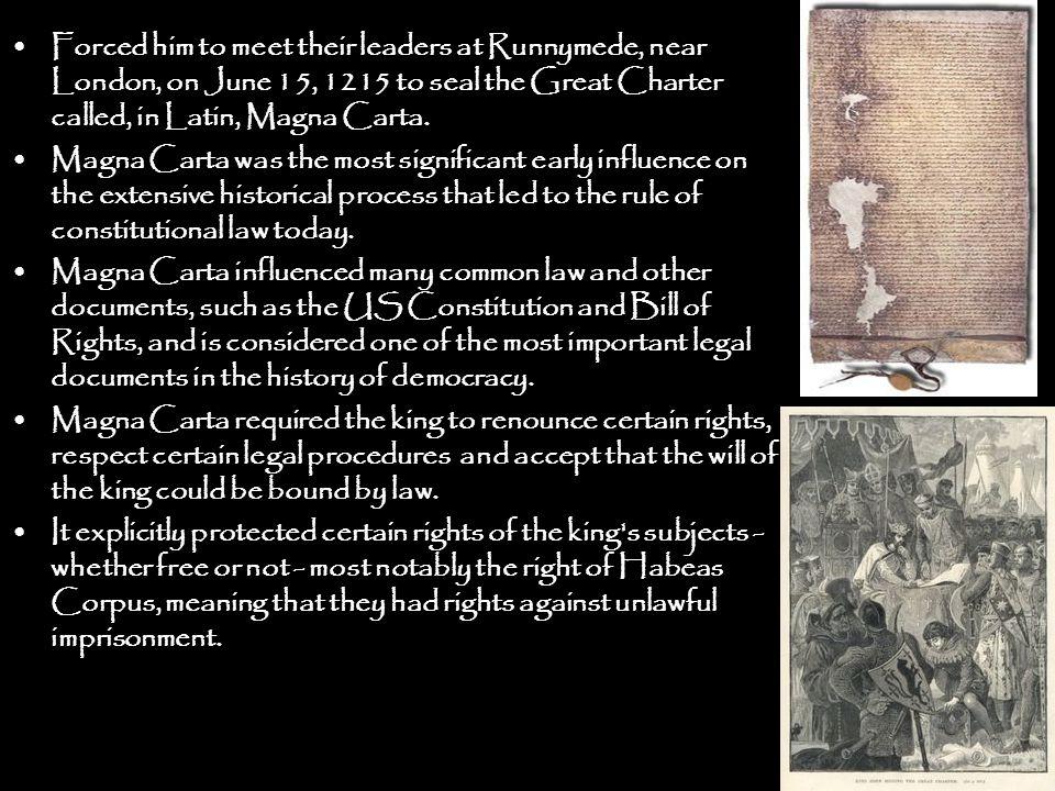 English Bill of Rights [1689] a Main provisions: 1.