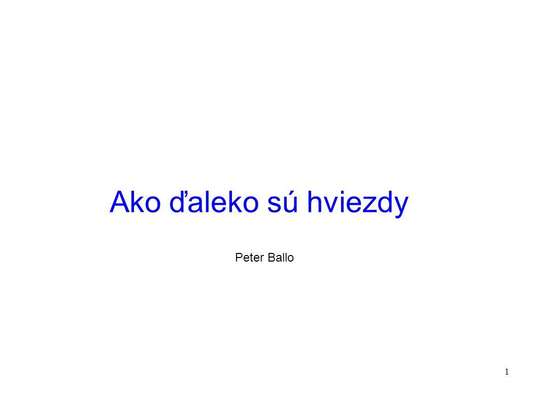 1 Ako ďaleko sú hviezdy Peter Ballo