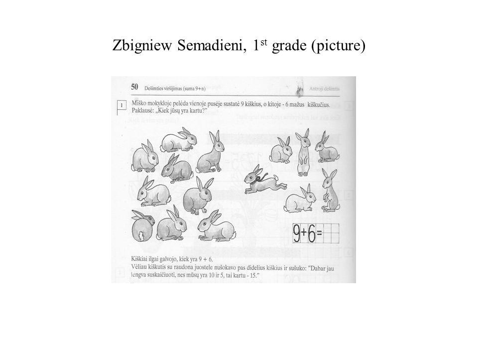 Zbigniew Semadieni, 1 st grade (picture)