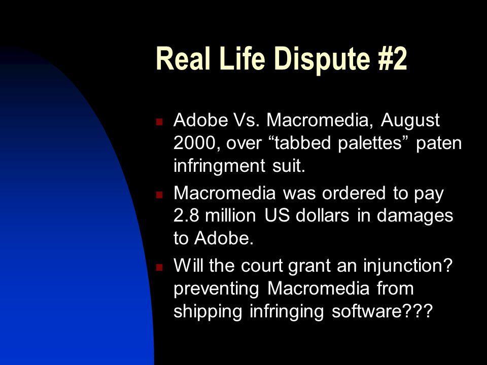 Real Life Dispute #2 Adobe Vs.