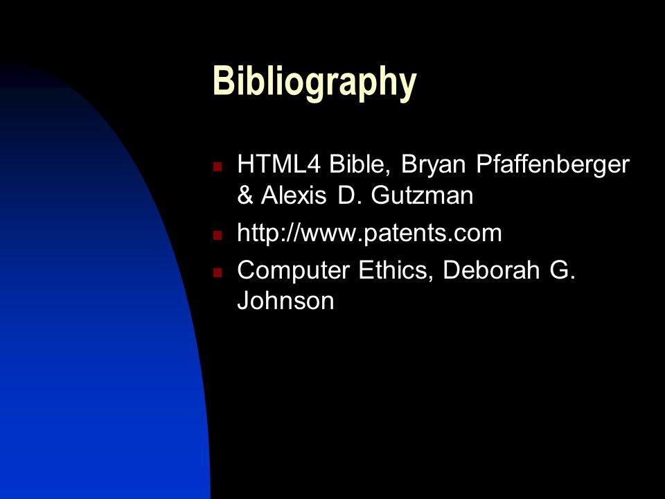 Bibliography HTML4 Bible, Bryan Pfaffenberger & Alexis D.