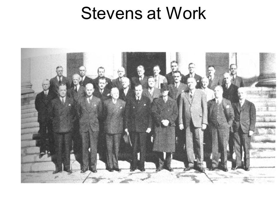 Stevens at Work
