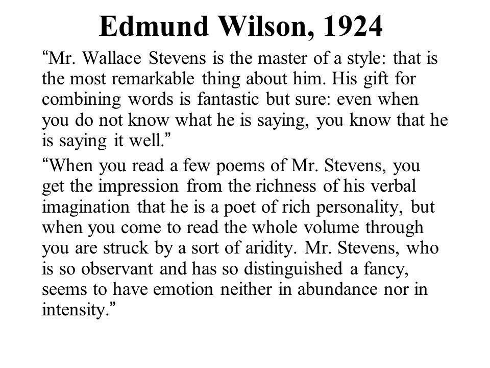 Edmund Wilson, 1924 Mr.