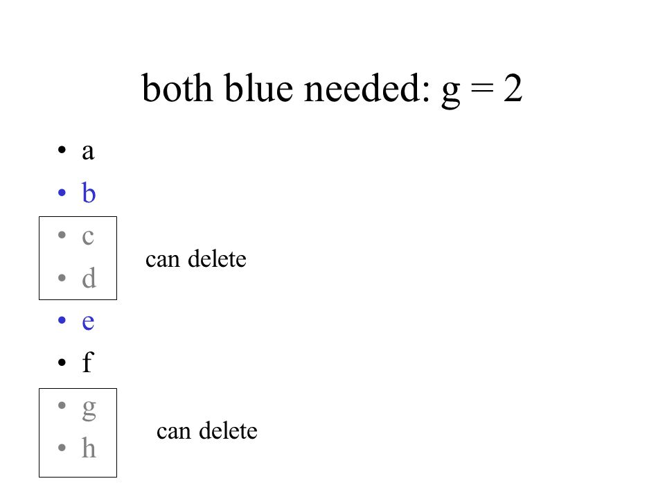 both blue needed: g = 2 a b c d e f g h can delete