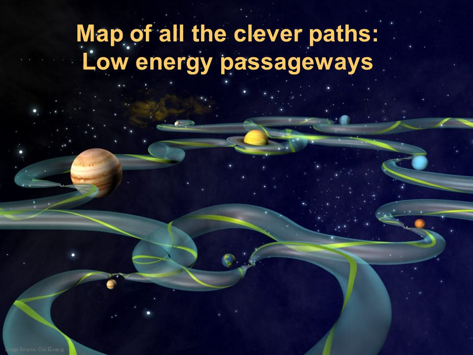 Map of all the clever paths: Low energy passageways Image Source: Cici Koenig
