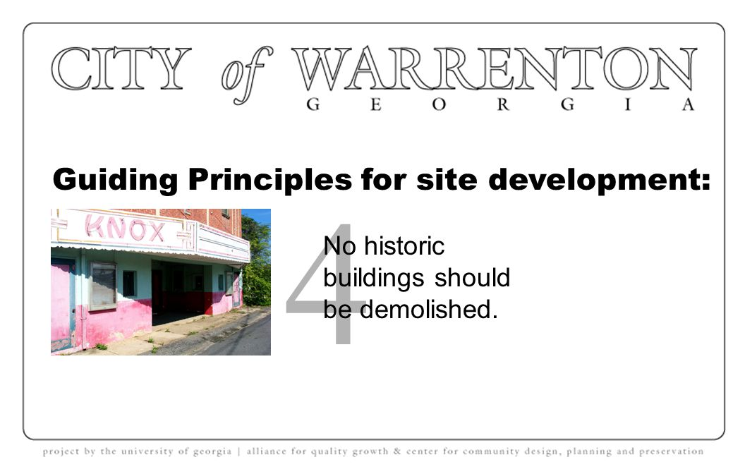 Guiding Principles for site development: 3 No tree canopy should be lost.