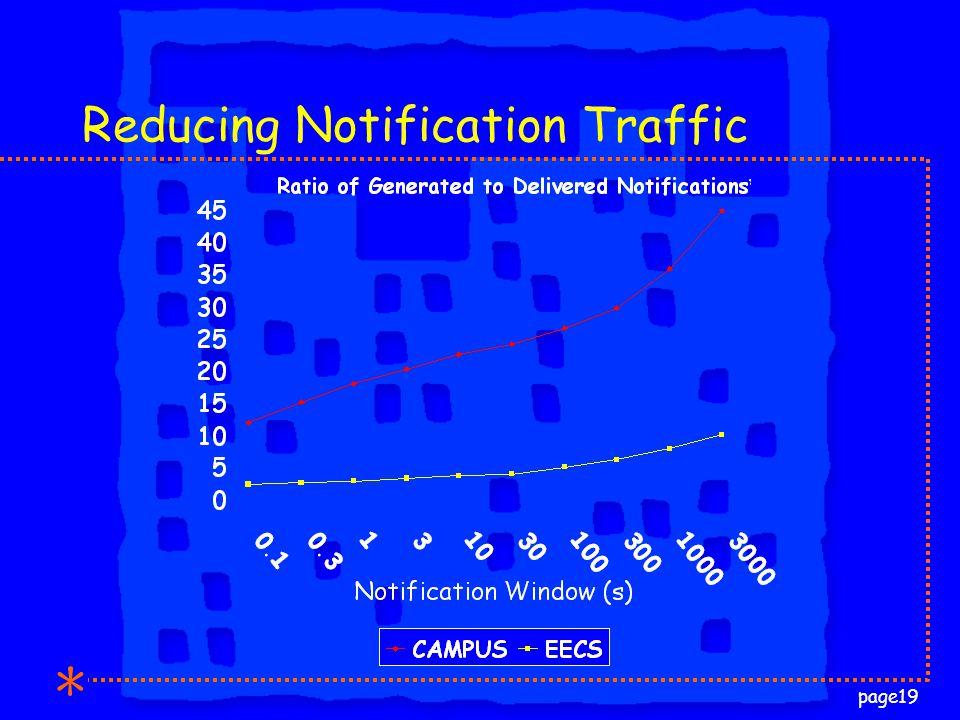 page19 Reducing Notification Traffic