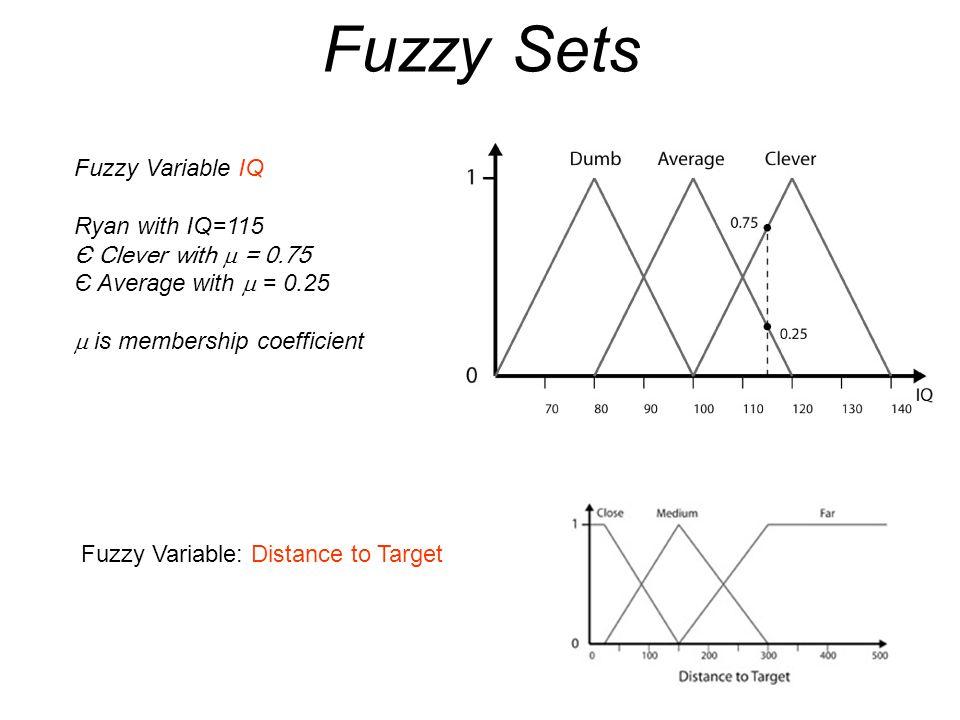 RocketLauncher void RocketLauncher::InitializeFuzzyModule() { FuzzyVariable& DistToTarget = m_FuzzyModule.CreateFLV( DistToTarget ); FzSet& Target_Close = DistToTarget.AddLeftShoulderSet( Target_Close ,0,25,150); FzSet& Target_Medium = DistToTarget.AddTriangularSet( Target_Medium ,25,150,300); FzSet& Target_Far = DistToTarget.AddRightShoulderSet( Target_Far ,150,300,1000); FuzzyVariable& Desirability = m_FuzzyModule.CreateFLV( Desirability ); FzSet& VeryDesirable = Desirability.AddRightShoulderSet( VeryDesirable , 50, 75, 100); FzSet& Desirable = Desirability.AddTriangularSet( Desirable , 25, 50, 75); FzSet& Undesirable = Desirability.AddLeftShoulderSet( Undesirable , 0, 25, 50); FuzzyVariable& AmmoStatus = m_FuzzyModule.CreateFLV( AmmoStatus ); FzSet& Ammo_Loads = AmmoStatus.AddRightShoulderSet( Ammo_Loads , 10, 30, 100); FzSet& Ammo_Okay = AmmoStatus.AddTriangularSet( Ammo_Okay , 0, 10, 30); FzSet& Ammo_Low = AmmoStatus.AddTriangularSet( Ammo_Low , 0, 0, 10); m_FuzzyModule.AddRule(FzAND(Target_Close, Ammo_Loads), Undesirable); m_FuzzyModule.AddRule(FzAND(Target_Close, Ammo_Okay), Undesirable); m_FuzzyModule.AddRule(FzAND(Target_Close, Ammo_Low), Undesirable); m_FuzzyModule.AddRule(FzAND(Target_Medium, Ammo_Loads), VeryDesirable); m_FuzzyModule.AddRule(FzAND(Target_Medium, Ammo_Okay), VeryDesirable); m_FuzzyModule.AddRule(FzAND(Target_Medium, Ammo_Low), Desirable); m_FuzzyModule.AddRule(FzAND(Target_Far, Ammo_Loads), Desirable); m_FuzzyModule.AddRule(FzAND(Target_Far, Ammo_Okay), Undesirable); m_FuzzyModule.AddRule(FzAND(Target_Far, Ammo_Low), Undesirable); }