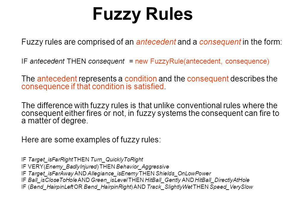 Conclusion You should now have an understanding of the theory behind fuzzy logic and it s application.
