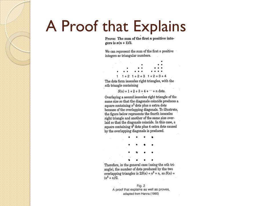A Proof that Explains