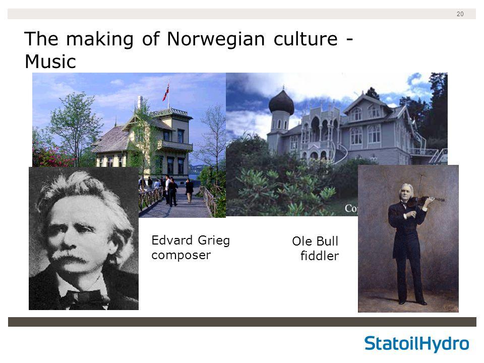 20 The making of Norwegian culture - Music Edvard Grieg composer Ole Bull fiddler