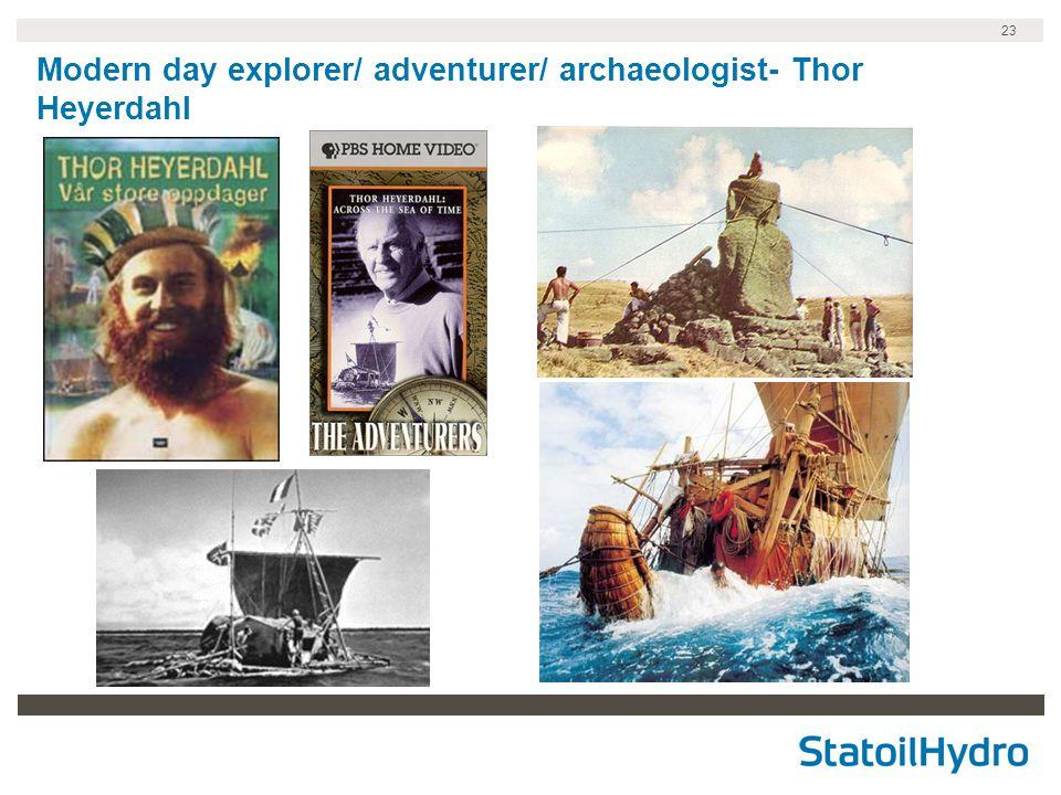 23 Modern day explorer/ adventurer/ archaeologist- Thor Heyerdahl