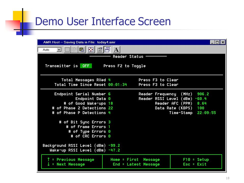 18 Demo User Interface Screen